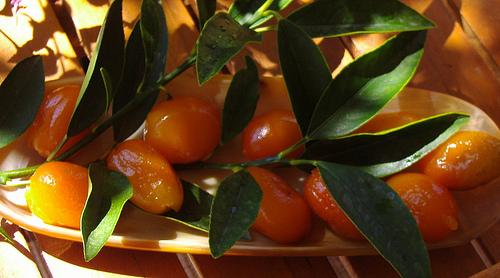 Kumquat confit farciti di pasta di mandorle