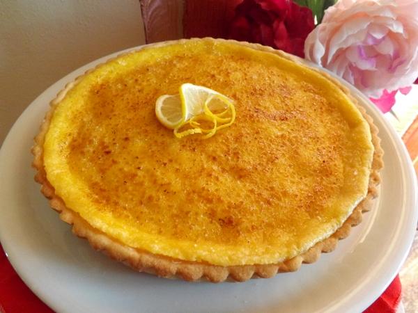 Crostata con Creme Brulé al Limone